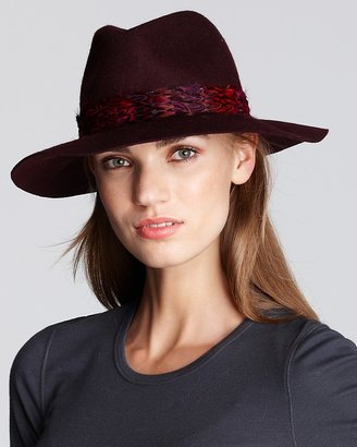 Juicy Couture Floppy Fedora with Faux Feather Trim