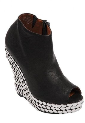 Jeffrey Campbell Tick Wedge Bootie with Studs in Black