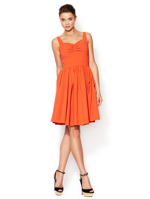 Z Spoke Zac Posen Ruched Bust Dress