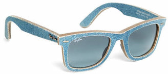 Brooks Brothers Ray-Ban Wayfarer Light-Blue Denim Sunglasses