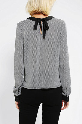 Urban Outfitters Coincidence & Chance Collared Long-Sleeve Top