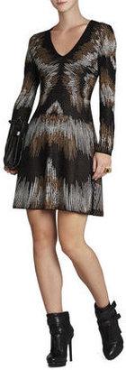 BCBGMAXAZRIA Katia Electric Strokes Jacquard Dress