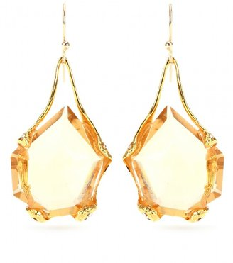 Alexis Bittar LIQUID GOLD CRYSTAL DROP EARRINGS