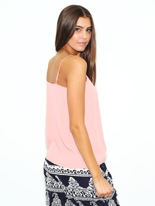 Olivaceous Rise and Shine Tank in Neon Pink