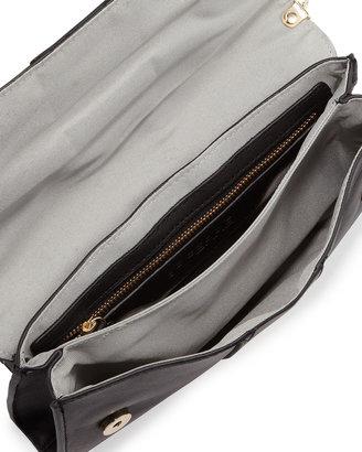 Gianfranco Ferre GF Studded Flap Crossbody Clutch Bag, Black