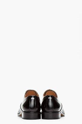 Maison Martin Margiela Black buffed leather Reflective Oxfords