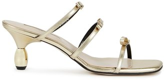 YUUL YIE Grace 75 Gold Leather Sandals
