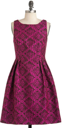 Eva Franco Rock the Block Print Dress
