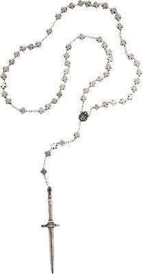 Pamela Love Cross & Dagger Rosary Necklace