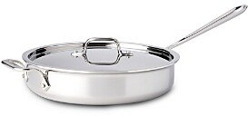 All-Clad Stainless Steel 3 Quart Saute Pan with Lid
