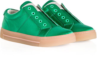 Marc by Marc Jacobs Satin Sneakers in Green