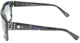 Lanvin Shiny Streaked Grey Squared Sunglasses