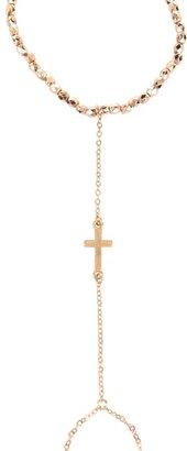Style Tryst Cross Finger Chain Bracelet