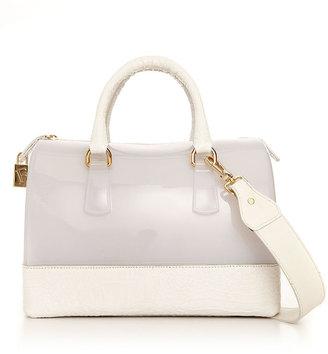 Furla Handbag, Candy Two Tone Croco Bauletto Bag