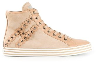 Hogan floral embellished hi-top sneakers