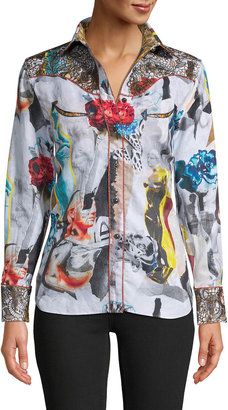 Robert Graham Sculpture Button-Down Printed Shirt