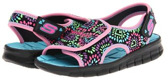 Skechers Synergize - Sunlovers 85967L (Little Kid/Big Kid) (Black) - Footwear