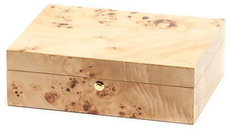 Gump's Wood Veneer Jewelry Box