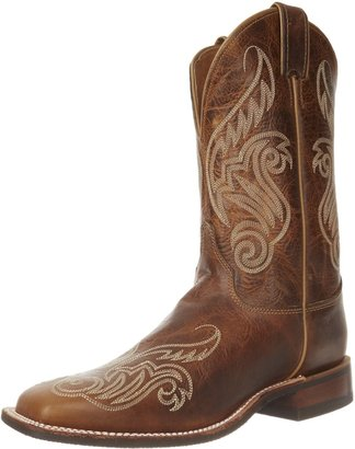 "Justin Boots Women's U.S.A. Bent Rail Collection 11"" Boot Wide Square Double Stitch Toe Performance Rubber Outsole"