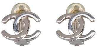 Chanel logo clip-on earrings