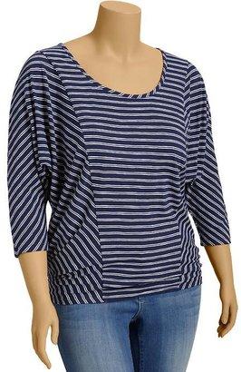 Old Navy Women's Plus Striped Dolman-Sleeve Tops
