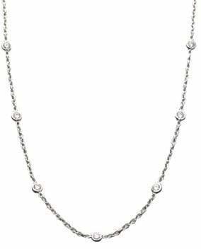Roberto Coin Diamond & 18K White Gold Station Necklace