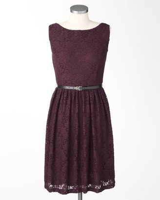 Coldwater Creek Belted lace dress