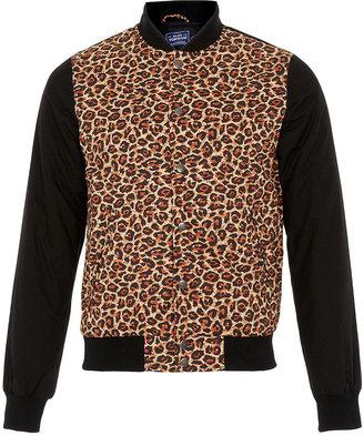 Topman Leopard Print Bomber Jacket