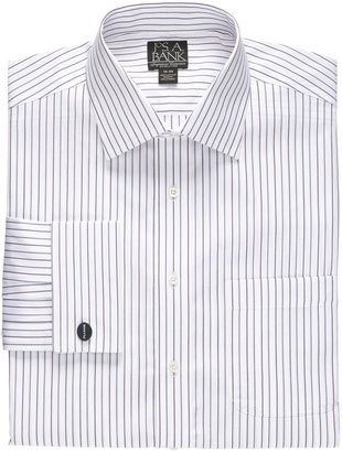 Jos. A. Bank Signature Wrinkle-Free Spread Collar, French Cuff Tailored Fit Dress Shirt