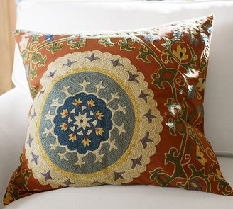Pottery Barn Nika Suzani Embroidered Pillow Cover