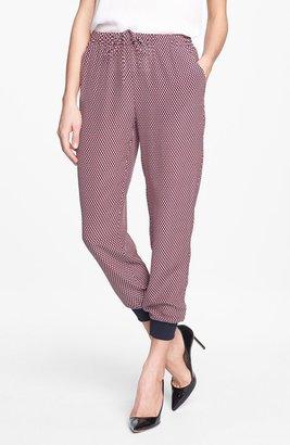 Theory 'Arai Cubes' Crop Silk Pants
