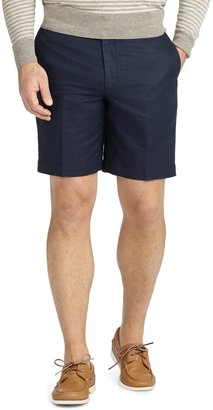 Brooks Brothers Plain-Front Linen and Cotton Shorts