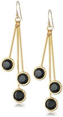 """Kate Spade Ferris Wheel"""" Triple Jet Drop Earrings"""