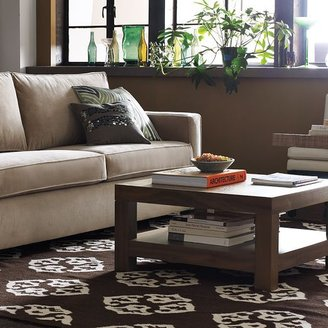 west elm Parsons Coffee Table - Chocolate