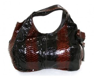 Valentino pristine (PR Cognac & Brown Python Bow Hobo Bag
