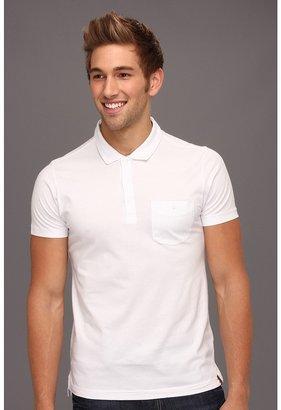 Ben Sherman Antique Garment Dyed S/S Polo Shirt (White) - Apparel