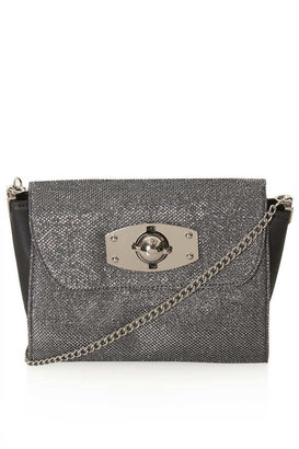Topshop Glitter Winged Crossbody Bag