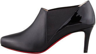 Christian Louboutin La Cicogna Low-Heel Red Sole Bootie, Black