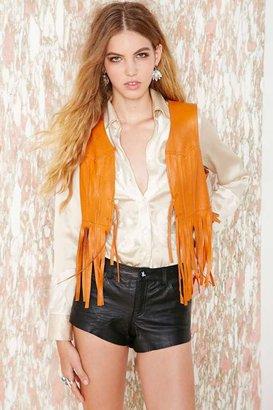 Nasty Gal Vintage Rough Rider Leather Vest