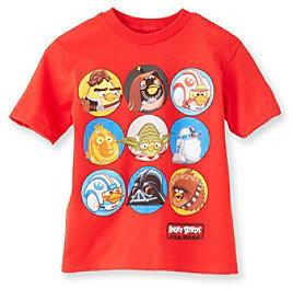 Star Wars Angry BirdsTM Boys' 4-20 Red Short Sleeve Tee