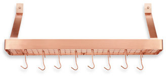 Cuisinart Rectangular Bookshelf Wall Rack - Polished Copper Finish
