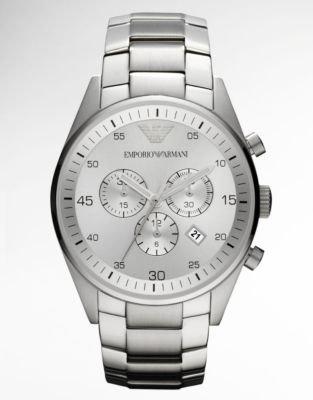 Emporio Armani Men's Stainless Steel Chronograph Watch