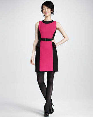Milly Olivia Belted Dress, Fuchsia