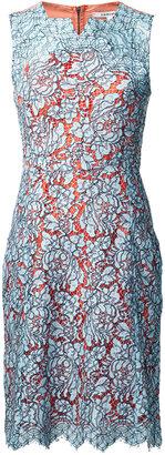 Carven Lace Dress Sky Blue