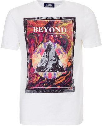 Topman White Marble Print T-shirt