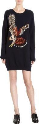 Stella McCartney Intarsia Eagle Knit Tunic Sweater