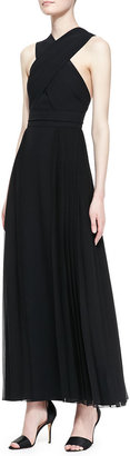 ADAM by Adam Lippes Pleated Crisscross-Top Gown