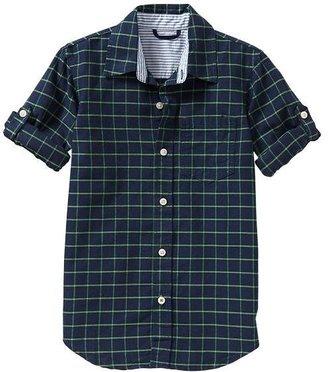 Gap Convertible windowpane shirt