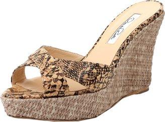 Oscar de la Renta Two Strap Wedge Sandal