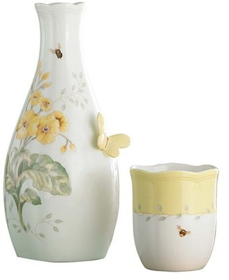 """Lenox Butterfly Meadow"""" Bedside Carafe, 9.5"""" with Cup"""